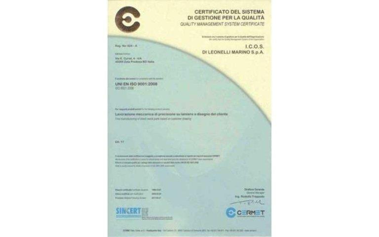 Certificato qualità