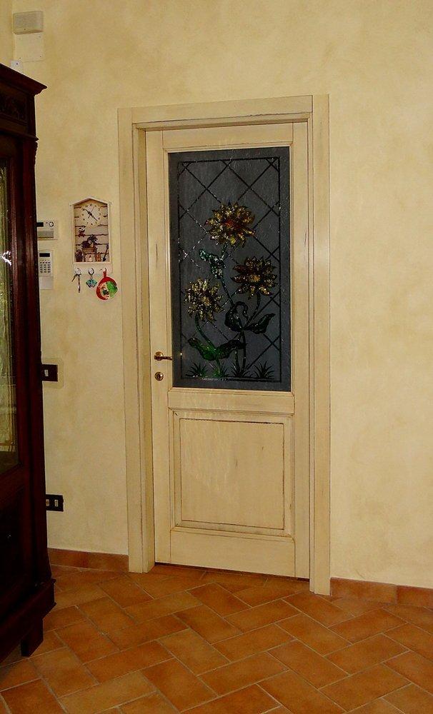 ingresso camera da letto con vista a vetro