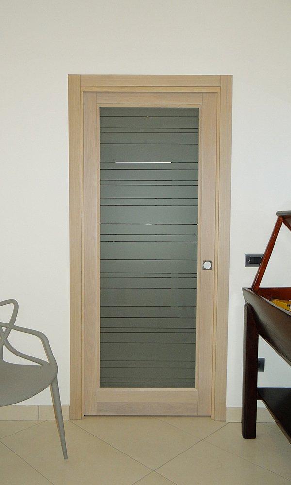porta in vetro soffiato