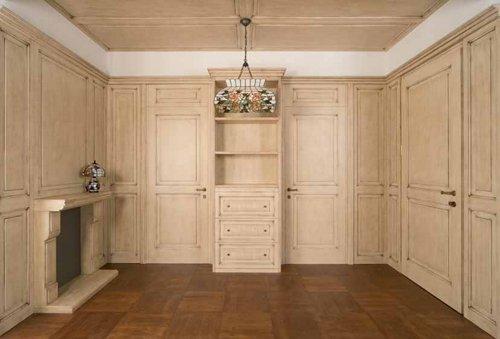 armadi in legno attrezzata con parete