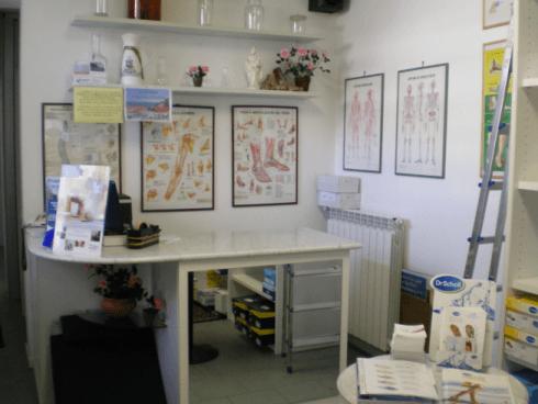 Postazione per esame podobarometrico