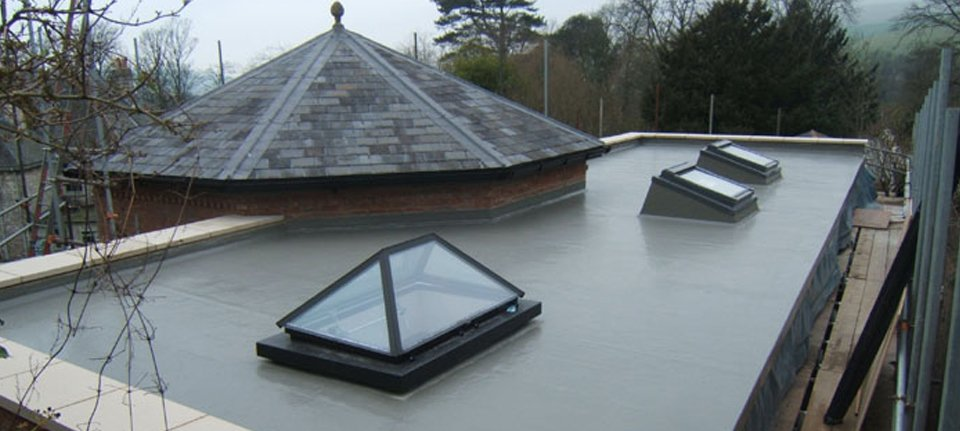Modern GRP fibreglass roofing systems