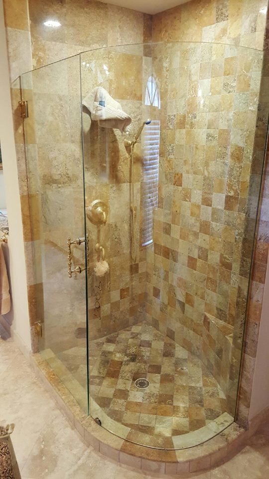 Curved Glass - Shower Enclosures
