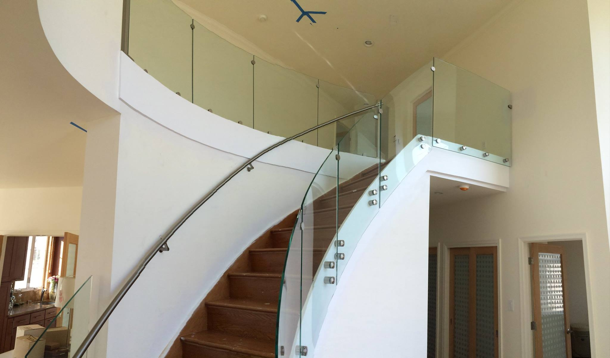 Curved Glass Stairwell