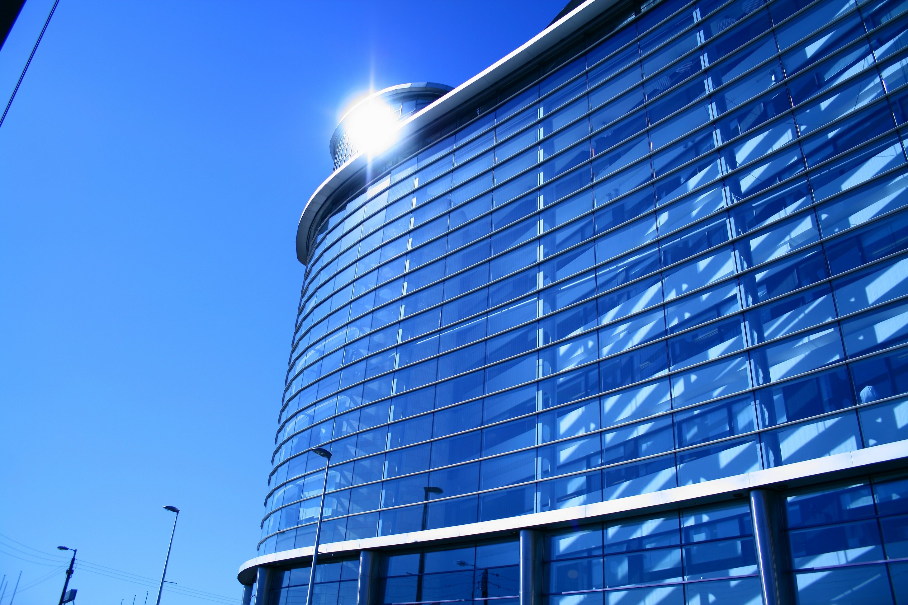 Curved Glass - Modern Building
