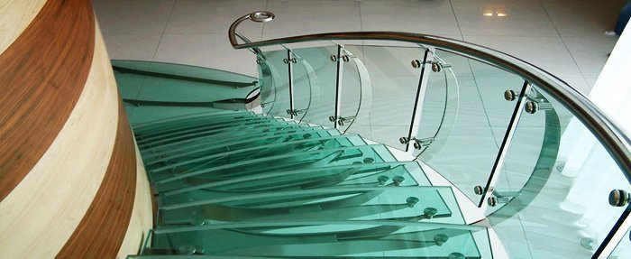 Curved Glass laminated windows