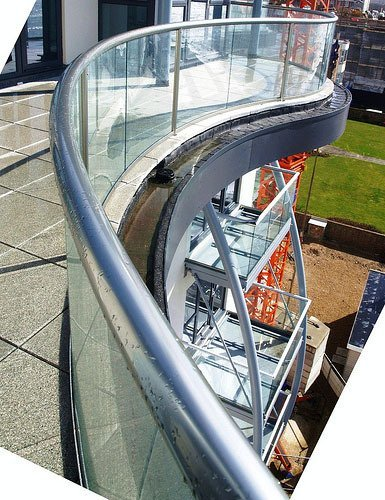 Curved Glass Hand Rail