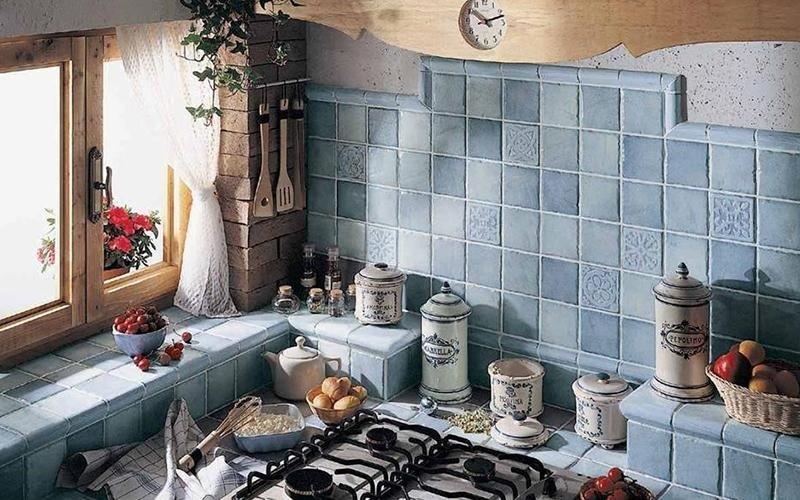 Rivestimenti colorati cucine