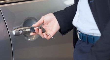 Car locksmith services being performed in Thomasville, NC