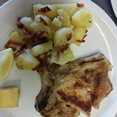 pollo con patate e pancetta
