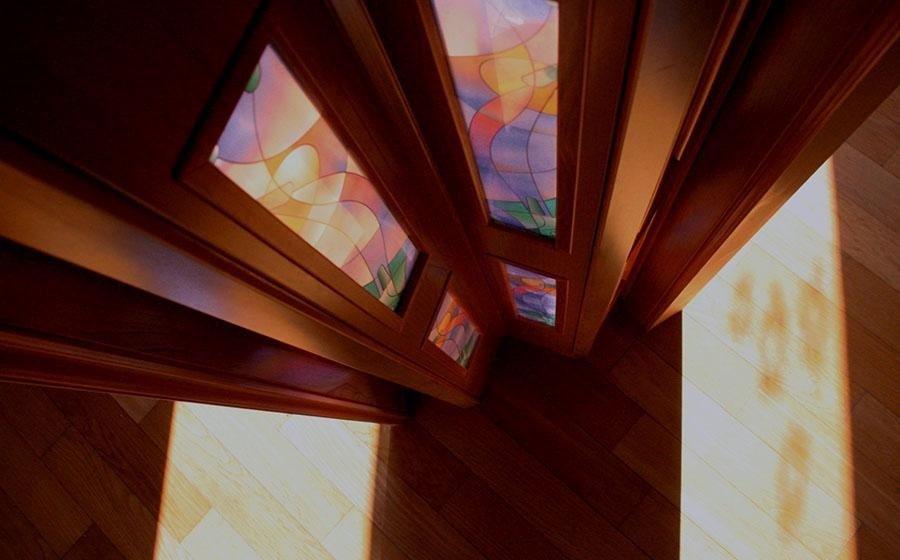 Porte a soffietto su misura venezia eurolux - Porta a soffietto in vetro ...