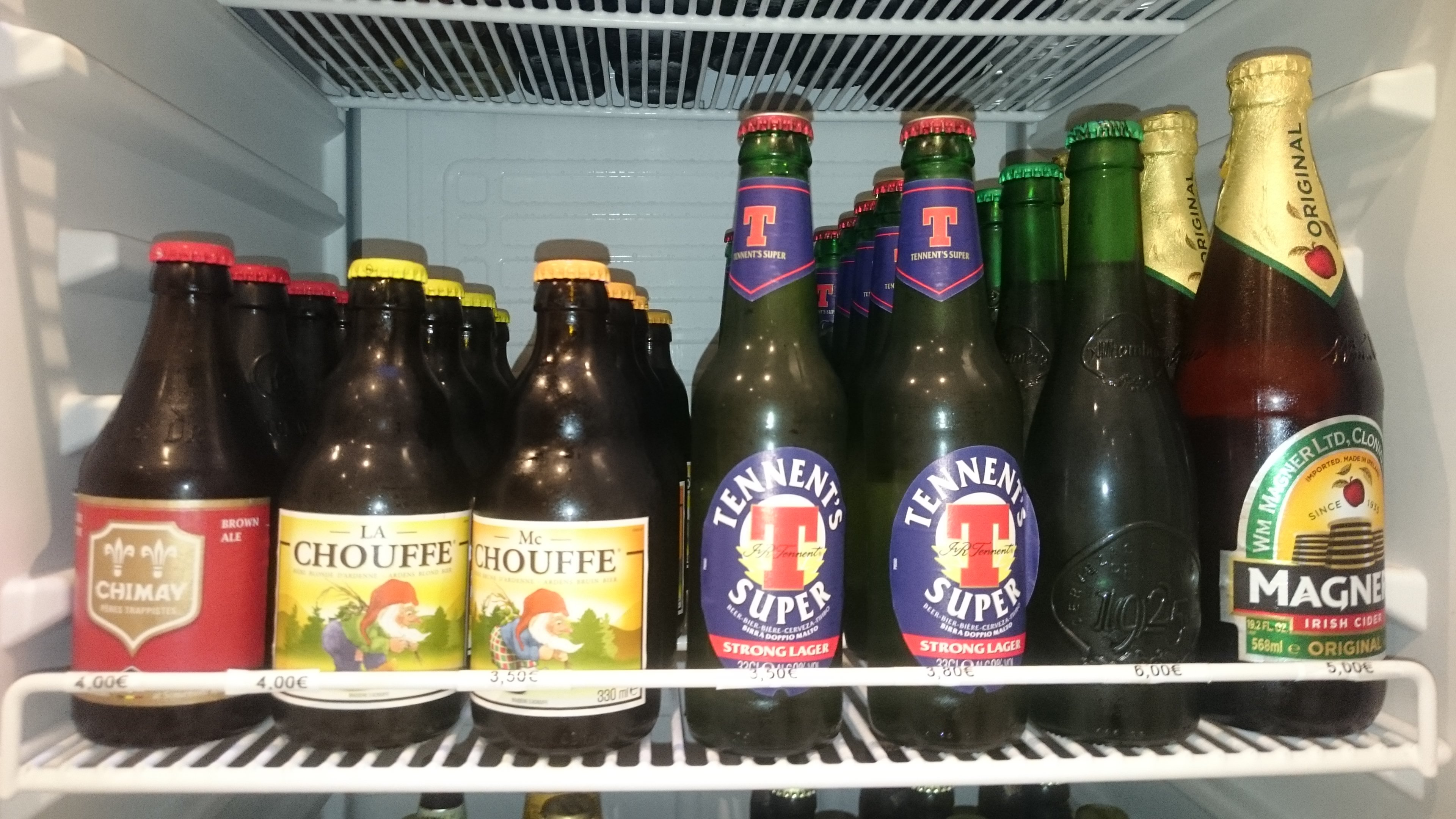 selezione di birre da Blob ristobar