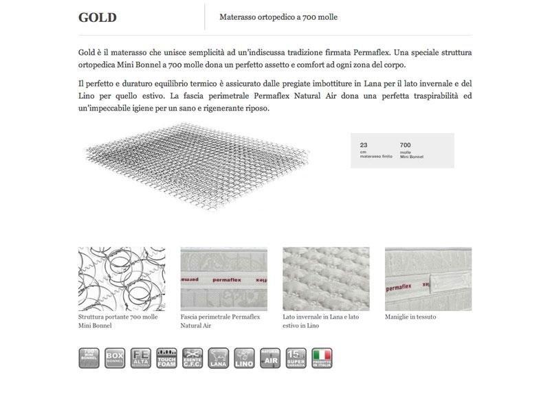 materasso gold