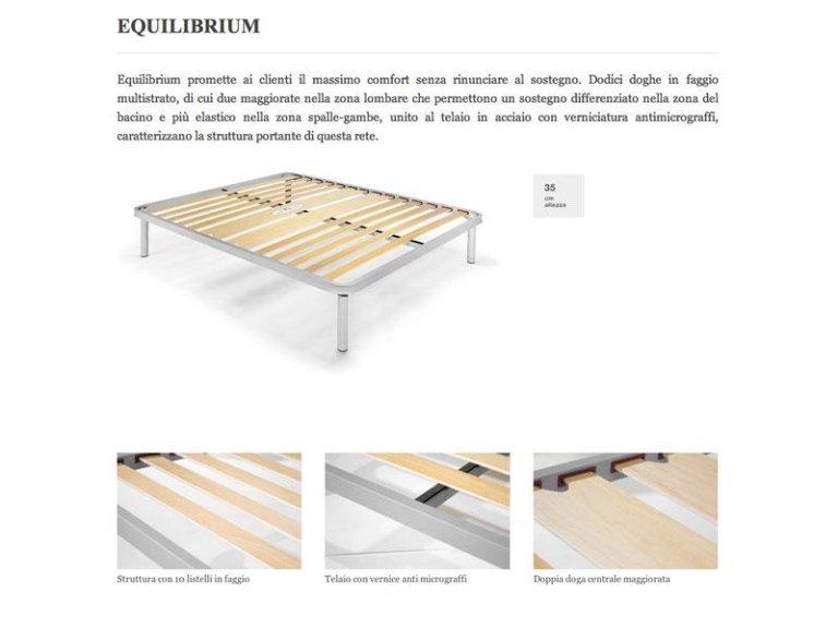 rete letto equilibrium