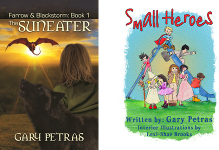 Two covers of middle grade books