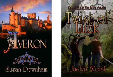 Two covers of young adult books