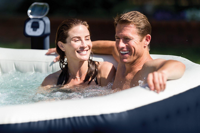 อ่างน้ำร้อน INTEX pure Spa อ่างน้ำวนจากุซซี่ อ่างสปา แช่น้ำร้อนเพื่อสุขภาพ บรรเทาโรค ผู้สูงอายุ ปวดเมื่อยกล้ามเนื้อ เอ็น กระดูก คนแก่ ผู้สูงวัย ผ่อนคลาย Hot tub สุขทุกวัน