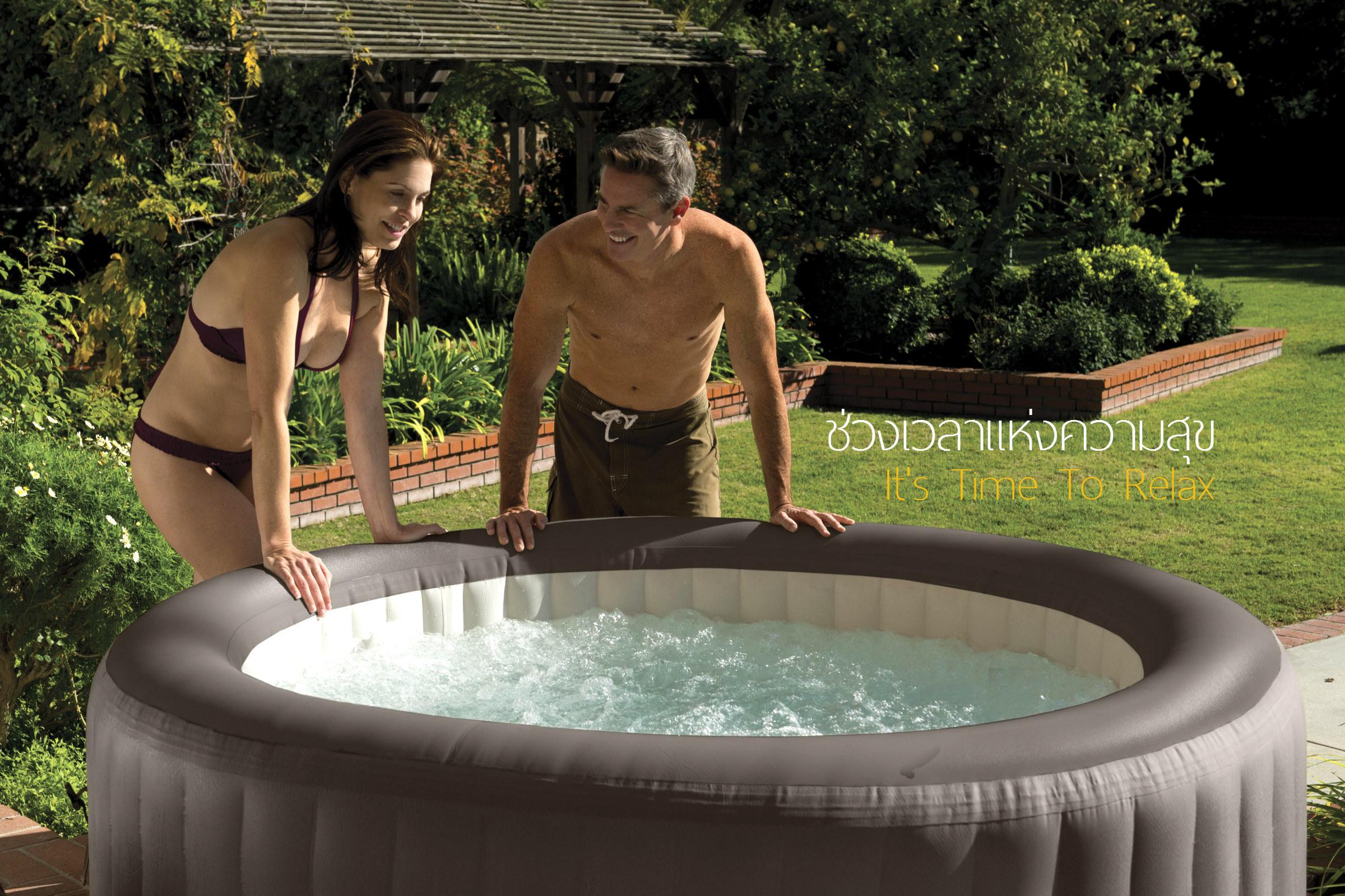 อ่างน้ำวน อ่างน้ำจากุซซี่  INTEX อ่างน้ำสปา จากุซซี่สปารีสอร์ท โรงแรม บ้านพัก จากุซซี่ทำน้ำร้อน แช่น้ำร้อนลดน้ำหนัก แช่น้ำร้อนเพื่อผิวสวย อ่างน้ำวจากุซซี่ใช้ภายใน อ่างน้ำจากุซซี่ภายนอกบ้าน