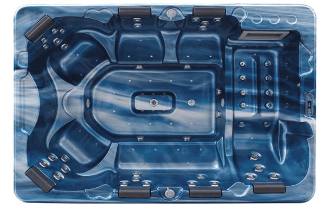 อ่างน้ำจากุซซี่สำหรับการติดตั้งภายนอก รองรับการใช้งาน 7 ที่นั่ง ใช้ในธุรกิจซาวน่า รีสอร์ท สปา จากุซซี่เพื่อสุขภาพ