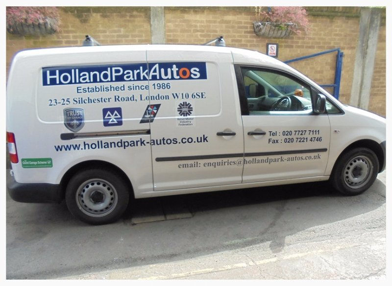 Holland Park Autos van