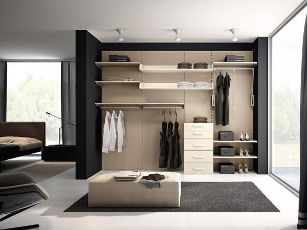 Camera grigio e panna