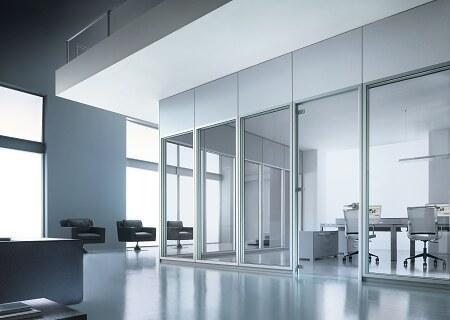 pareti con vetro ufficio