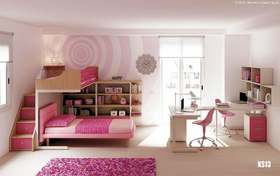 Camera tonalità rosa