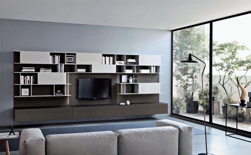 mobili soggiorno - torino - riva arredamenti - Parete Soggiorno San Giacomo 2