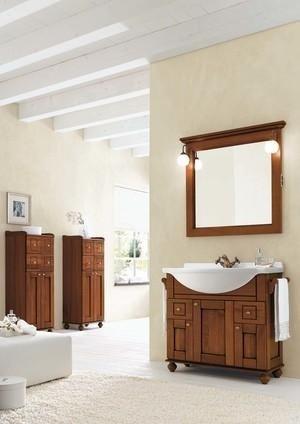 Specchiera legno bagno
