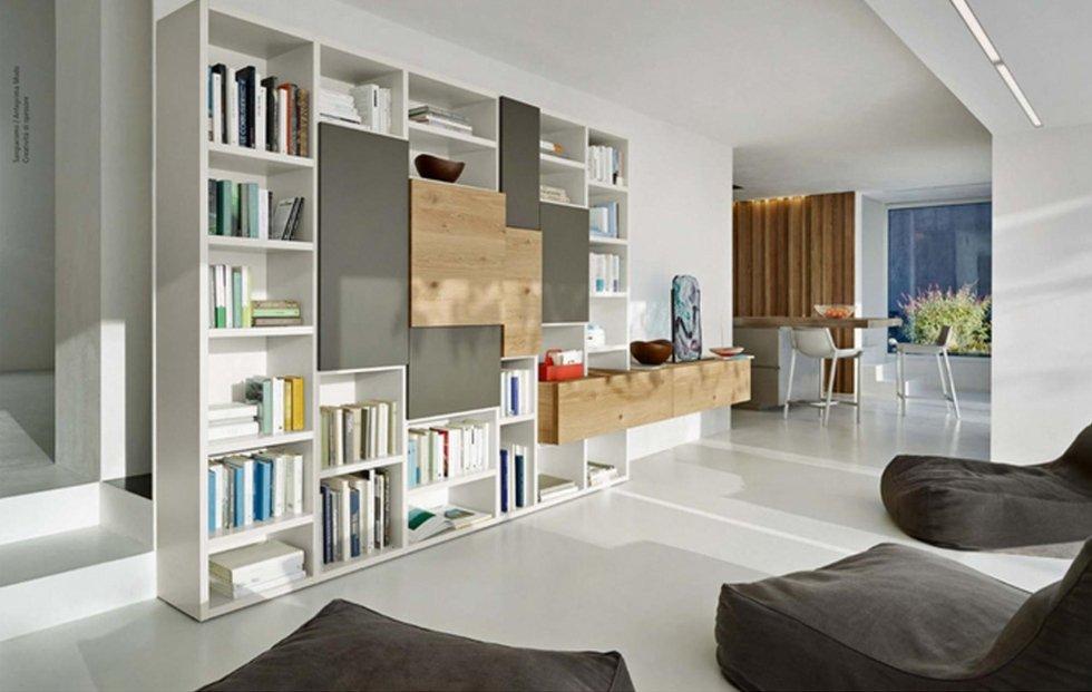 libreria inserti legno