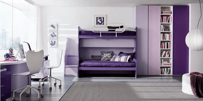 Cameretta viola e lilla