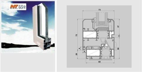 il sistema permette la realizzazione di: finestre,vasistas,antaribalta,monoblocchi, portafinestra e portoncini ad una o più ante.
