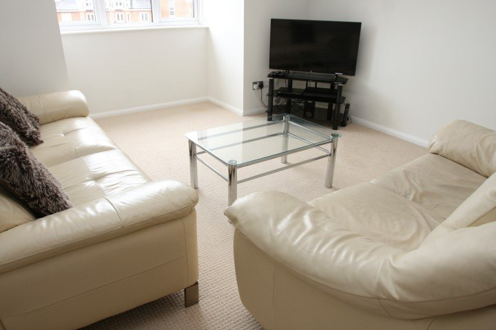 sofa, table and TV unit