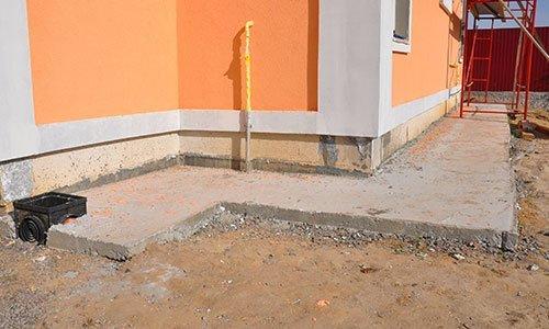 Foundation wall waterproofing
