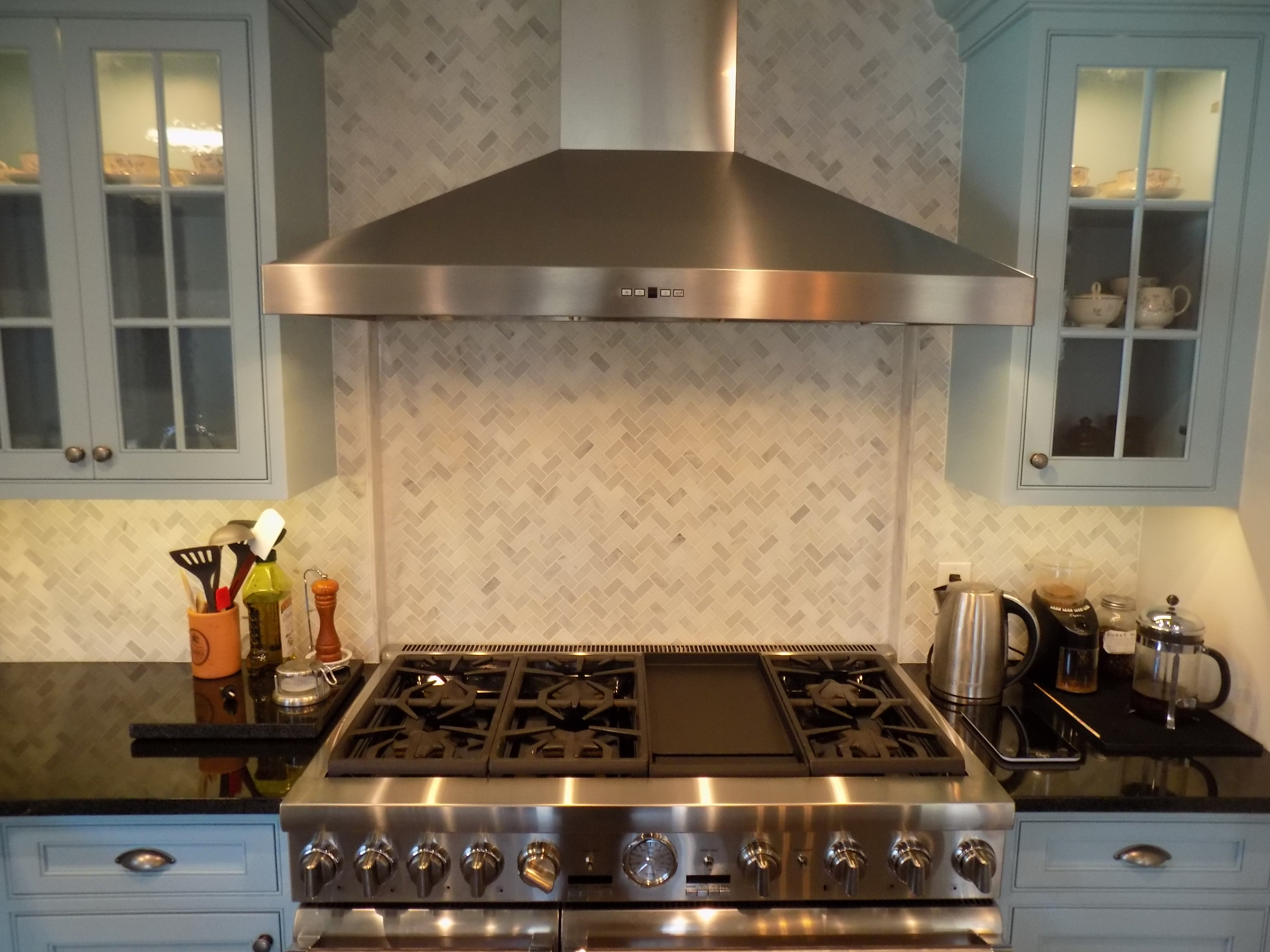 stainless steel 6 burner cooktop stove & double oven