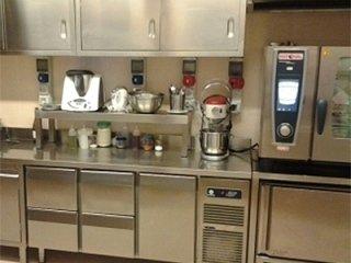 postignano castle kitchen interior