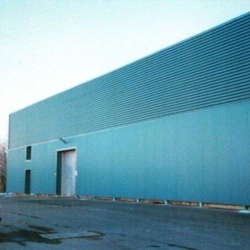 COTTO TUSCANIA - Serramazzoni (MO) Realizzazione di rivestimento in alluminio Grekor color blu oceano