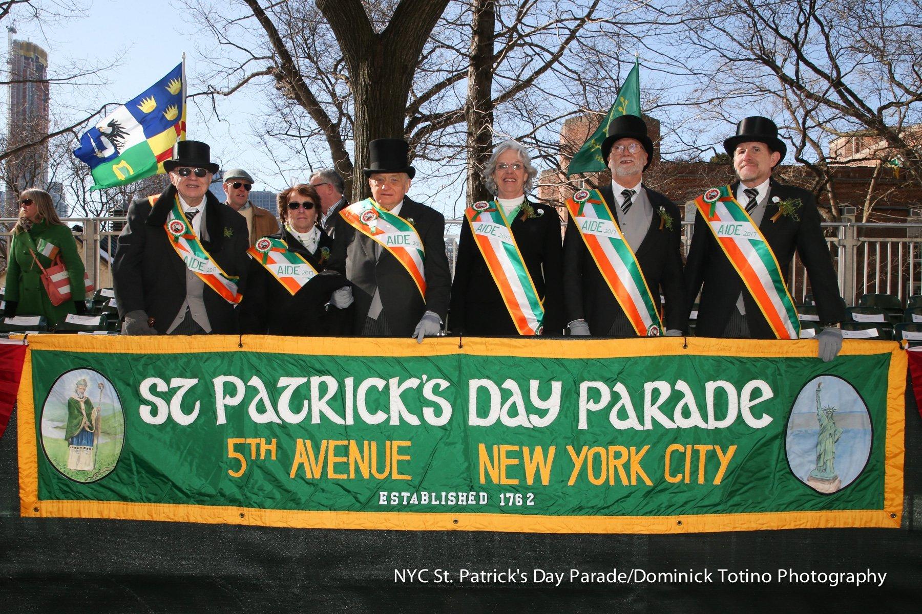 St Patrick's Day Parade on 5th Avenue, New York City