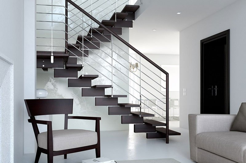 vista delle scale in un appartamento moderno