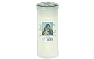 white madonna candle