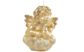 ivory angel candle