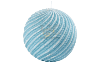 turquoise ball candle