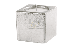 silver pot candle