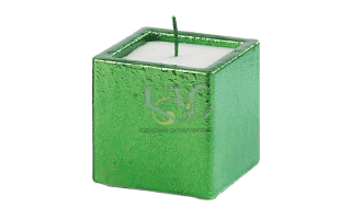 green square candle