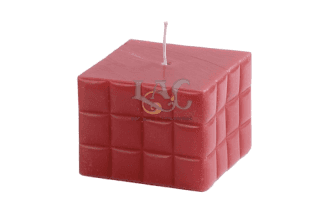 square pink candle