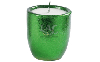 green pot candle
