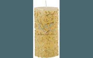 floral yuletide candle