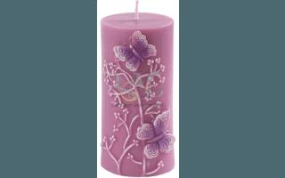 candela farfalle rosa