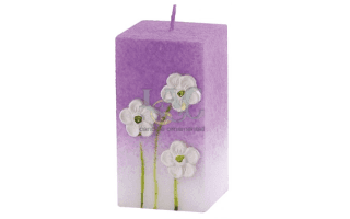 light purple square candle