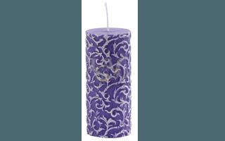 candela rilievo violetto